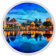 Coronado Springs Resort Round Beach Towel