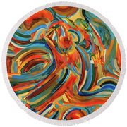 Coronal Mass Ejections #3 Round Beach Towel