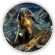 Corpse Taker Round Beach Towel