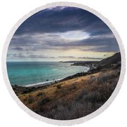Corral Canyon Malibu Trail Round Beach Towel