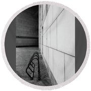 Round Beach Towel featuring the photograph Corridor In Black And White by Bruce Carpenter
