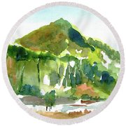 Corte Madera Creek Round Beach Towel