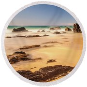 Corunna Point Beach Round Beach Towel by Werner Padarin