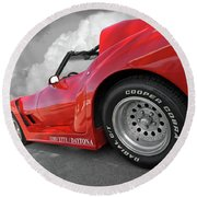 Corvette Daytona Round Beach Towel by Gill Billington