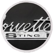 Corvette Sting Ray  Round Beach Towel