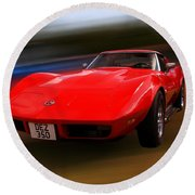 Corvette Stingray Round Beach Towel