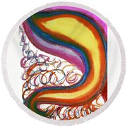 Cosmic Caf Round Beach Towel