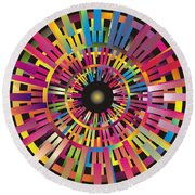 Cosmic Calibrator Round Beach Towel