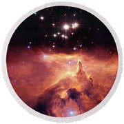 Cosmic Cave Round Beach Towel