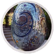 Cosmic Egg Round Beach Towel