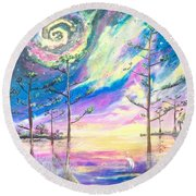 Cosmic Florida Round Beach Towel