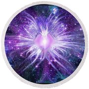 Cosmic Heart Of The Universe Mosaic Round Beach Towel