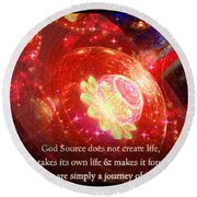 Cosmic Inspiration God Source 2 Round Beach Towel