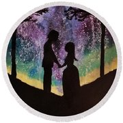 Cosmic Love  Round Beach Towel
