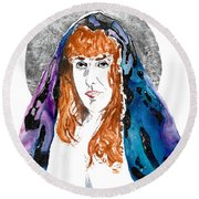 Cosmic Queen Sof The Universe  Round Beach Towel