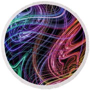 Cosmic Radiation Round Beach Towel by Mark Blauhoefer