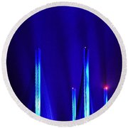 Blue Light Rays - Indian River Inlet Bridge Round Beach Towel