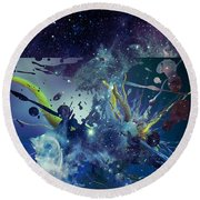Cosmic Resonance No 1 Round Beach Towel