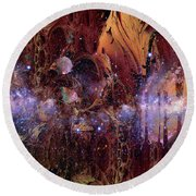 Cosmic Resonance No 2 Round Beach Towel