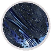 Round Beach Towel featuring the photograph Cosmic Resonance No 5 by Robert G Kernodle