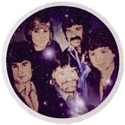 Cosmic Rockers Round Beach Towel