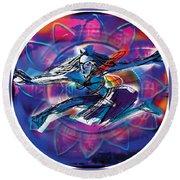 Cosmic Shiva Speed Round Beach Towel