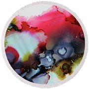Cosmic Round Beach Towel by Tracy Male