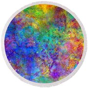 Cosmos Round Beach Towel by Claire Bull