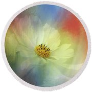 Cosmos Dreaming Abstract By Kaye Menner Round Beach Towel