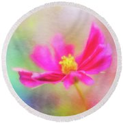 Cosmos Flowers Love To Dance Round Beach Towel