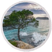 Costa De La Calma Tree Round Beach Towel