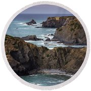 Round Beach Towel featuring the photograph Costa Vicentina by Edgar Laureano