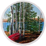 Cottage Country 2 Round Beach Towel