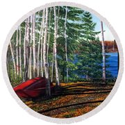 Cottage Country Round Beach Towel