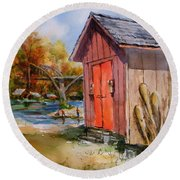 Cotter Shed Round Beach Towel