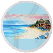 Cottesloe Beach Indiana Tea House Round Beach Towel
