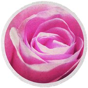 Cotton Candy Pink Round Beach Towel