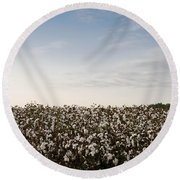 Cotton Field 2 Round Beach Towel