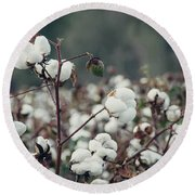 Cotton Field 5 Round Beach Towel