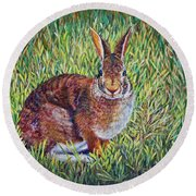 Cottontail Round Beach Towel