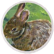 Cottontail Round Beach Towel by Lynne Reichhart