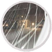 Coulter Snow  Round Beach Towel