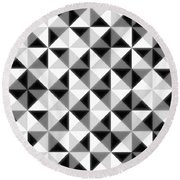 Count The Squares Round Beach Towel by Ron Brown