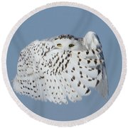 Countess Snowy Round Beach Towel