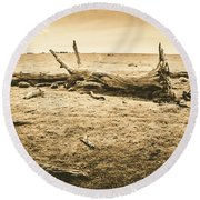 Countrified Australia Round Beach Towel