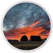 Country Barns Sunrise Round Beach Towel
