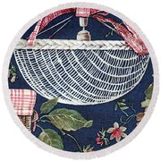 Country Basket Round Beach Towel
