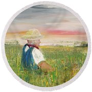 Country Dreams Round Beach Towel