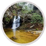 Country Falls Round Beach Towel