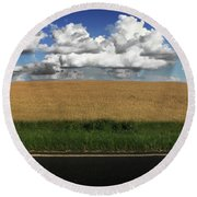 Country Field Round Beach Towel by Brian Jones